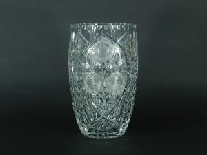 マイセンクリスタル カットガラス(切子)草花模様 花瓶