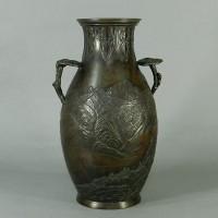 原保斉 銅製花瓶