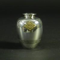 東久邇宮家 純銀新城 小花瓶