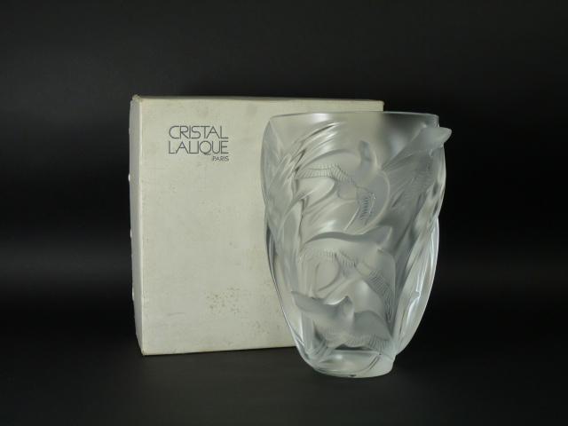 110731-01n-021ラリック(LALIQUE)マルティネット(鳥図)花瓶(ベース)専用箱