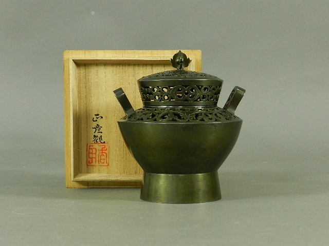 香取秀真 銅器 香炉 帝室技芸員