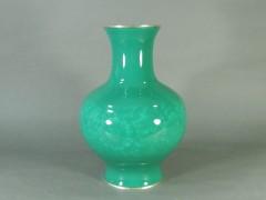 06-DSCN1939-04g-021安藤七宝製 緑釉 無線七宝 牡丹模様 花瓶
