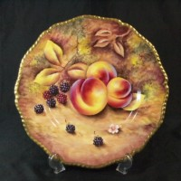 ロイヤルウースター 手描 果物 飾皿