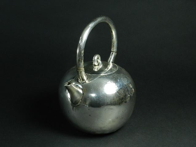 銀瓶 銀製(純銀刻印)薬缶 湯沸 急須 遊環摘 煎茶 烏龍茶