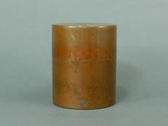 06-DSCN1054開花堂 銅製 茶筒