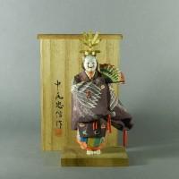 中尾忠信「羽衣」木彫 彩色 人形