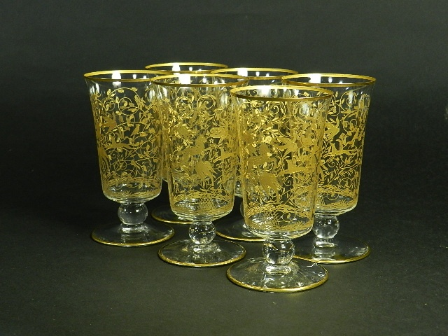 バカラ(Baccarat) 金彩グラス