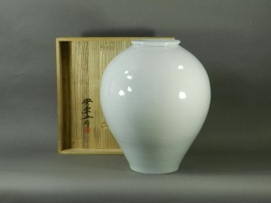 04-DSCN2074-02n-021安東五(樊川窯)李朝 白磁 大壺