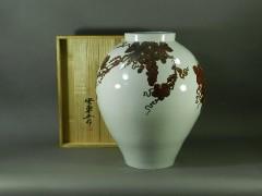 03-DSCN2165-03n-021安東五(樊川窯)李朝白磁 鉄絵葡萄(ブドウ)模様