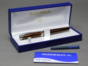 ウォーターマン(WATERMAN)万年筆(18K-750ペン先)専用ケース