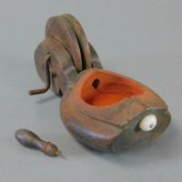 時代民芸 墨壷(すみつぼ)木製 古道具 民芸具 古民芸 古玩 大工道具