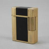 S.T.Dupont(デュポン)フリント ゴールド×ブラック ローラーガスライター 喫煙具