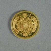 1円 金貨 明治4年(明治四年)一圓 約1.7g 1871年 大日本 古銭